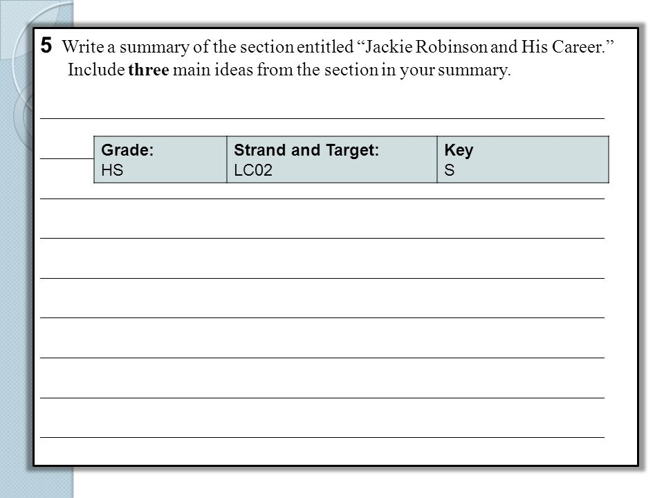 5 Write a summary of the section entitled Jackie Robinson and His Career.