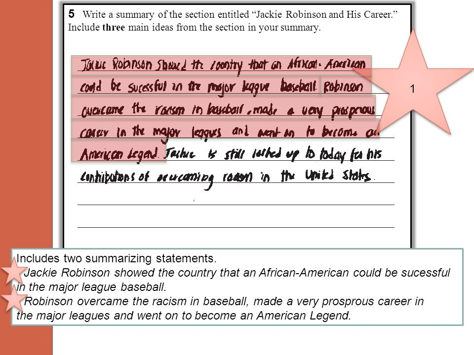 5 Write a summary of the section entitled Jackie Robinson and His Career. Include three main ideas from the section in your summary.