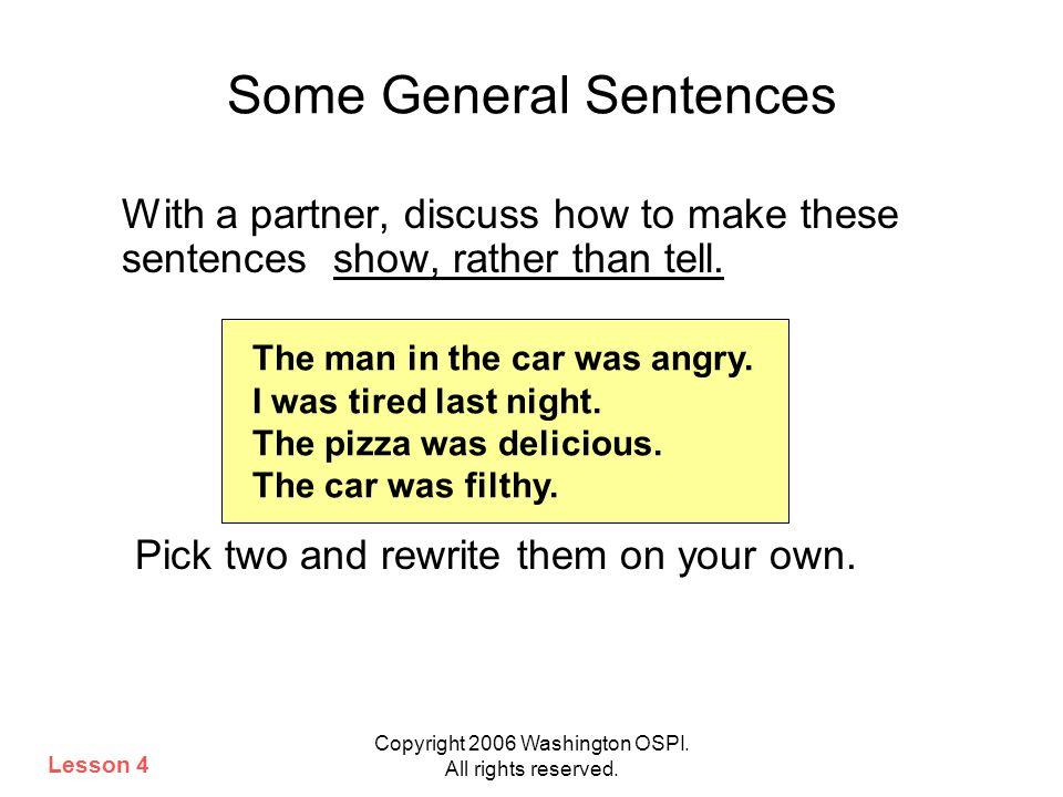 Some General Sentences