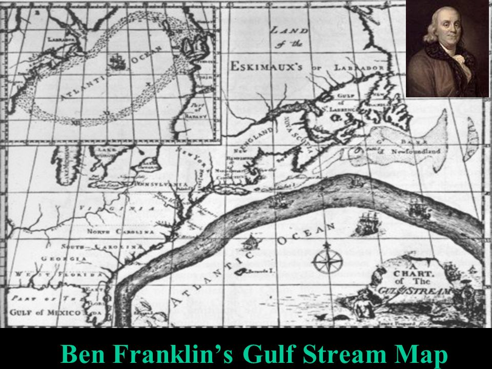 Ben Franklin's Gulf Stream Map