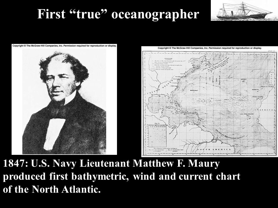 1847 Maury First true oceanographer