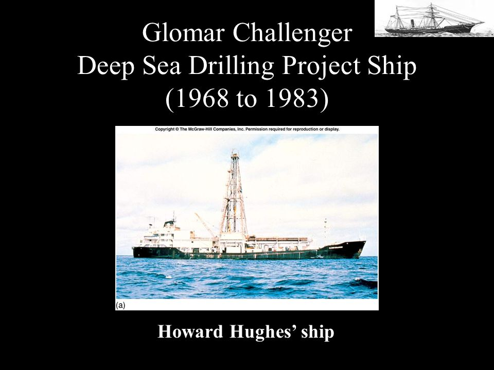 Glomar Challenger Deep Sea Drilling Project Ship (1968 to 1983)