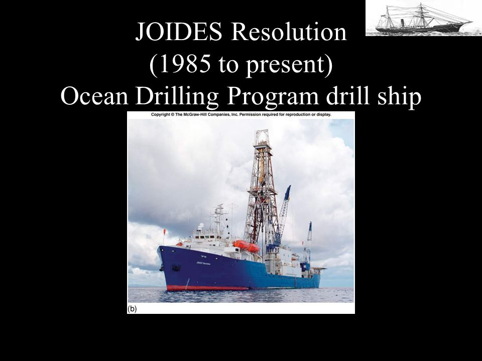 JOIDES Resolution (1985 to present) Ocean Drilling Program drill ship