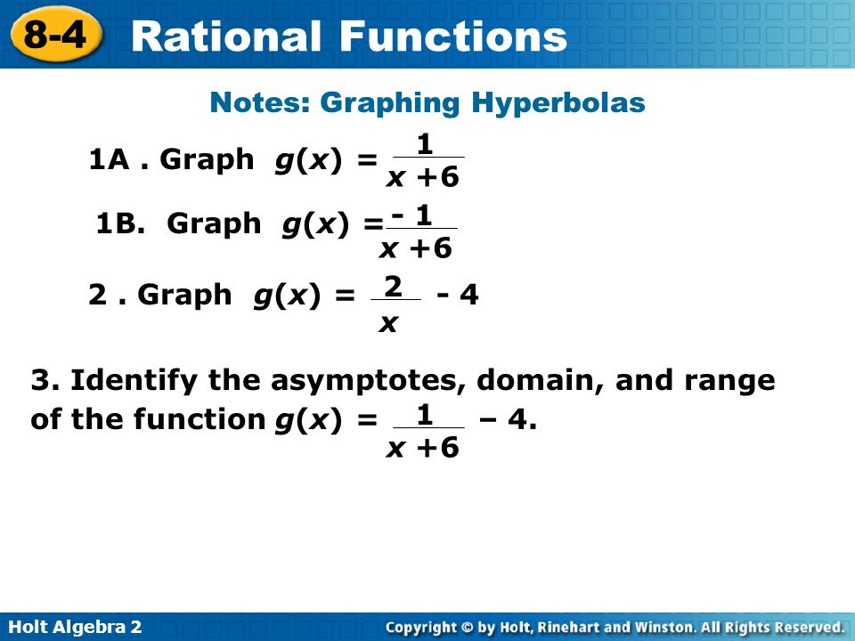 Notes: Graphing Hyperbolas
