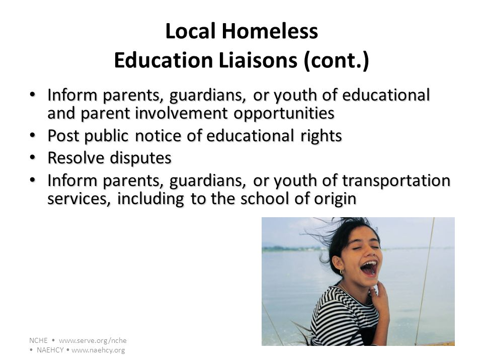 Local Homeless Education Liaisons (cont.)