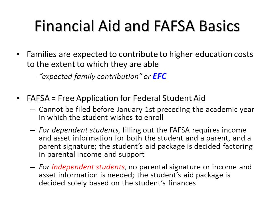 Financial Aid and FAFSA Basics
