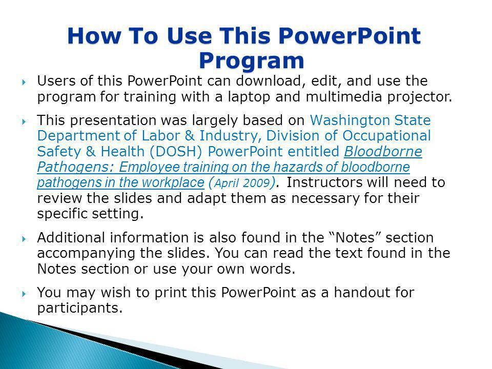 How To Use This PowerPoint Program