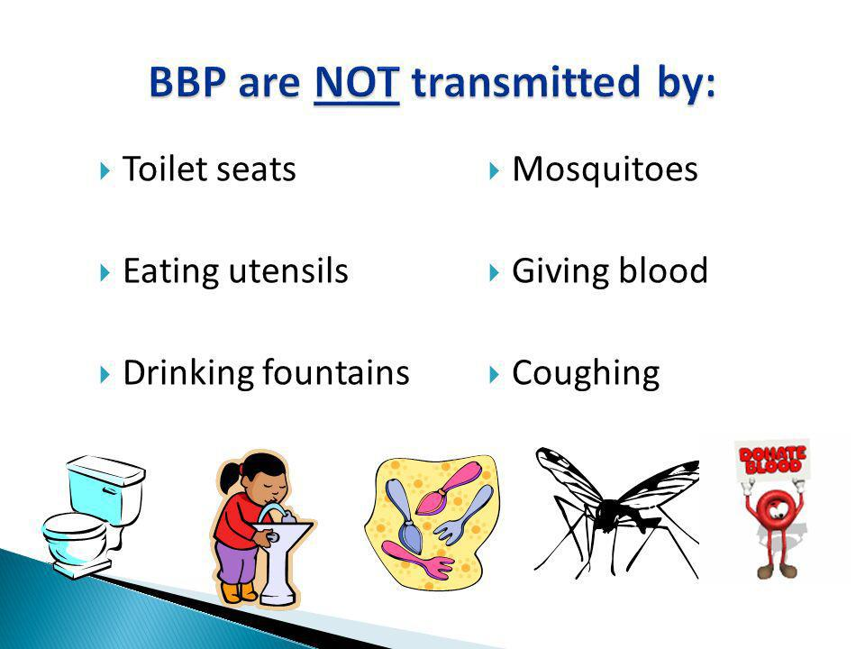 BBP are NOT transmitted by: