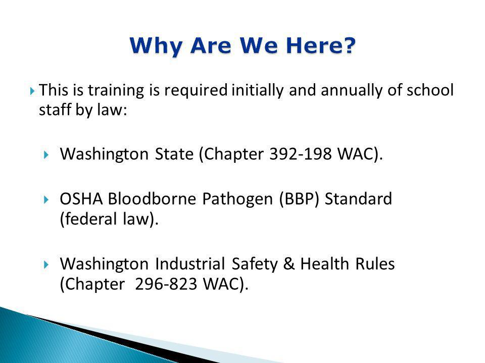 Why Are We Here Washington State (Chapter 392-198 WAC).
