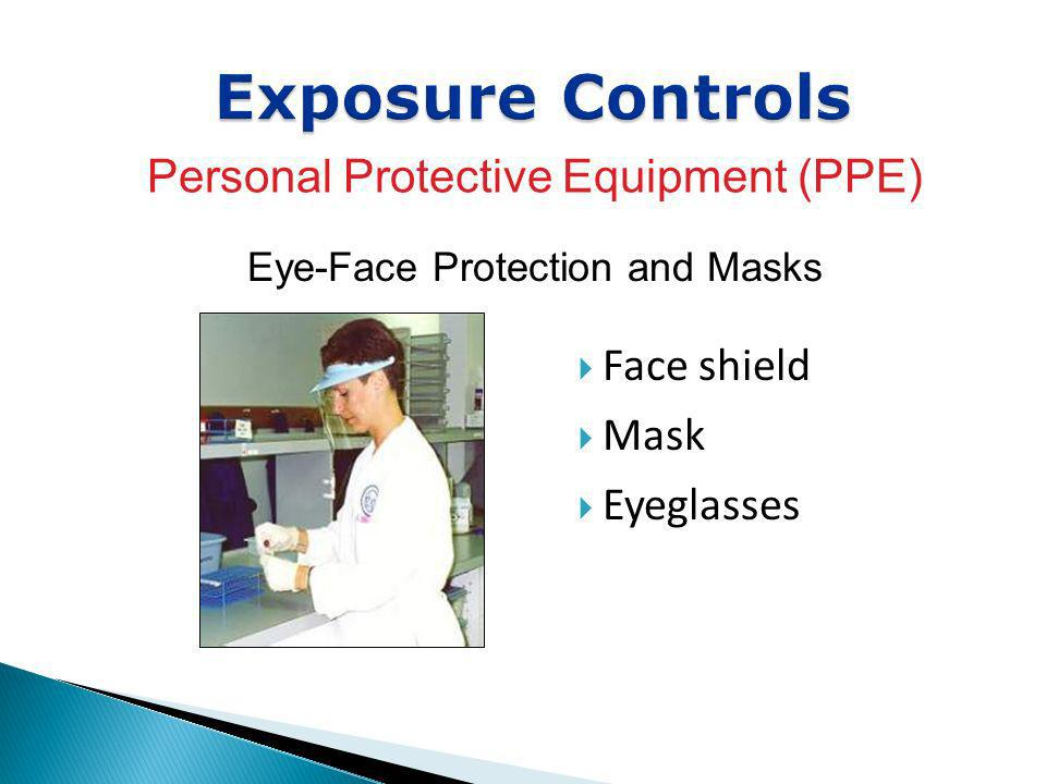Exposure Controls Personal Protective Equipment (PPE) Face shield Mask