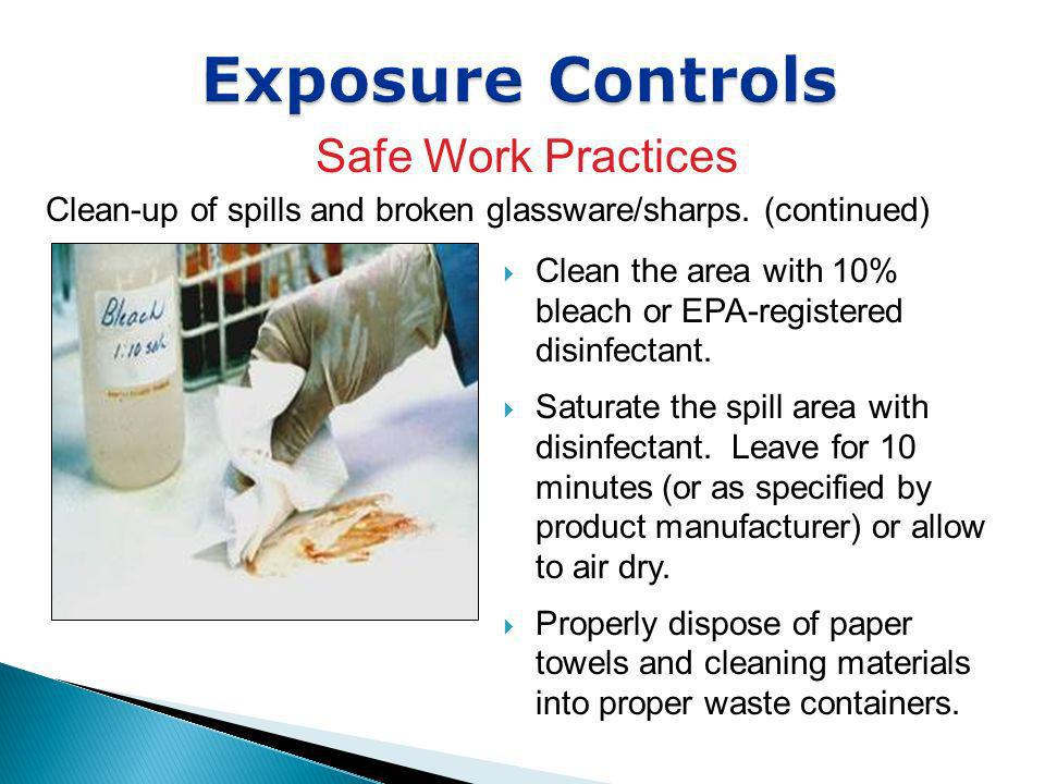 Exposure Controls Safe Work Practices