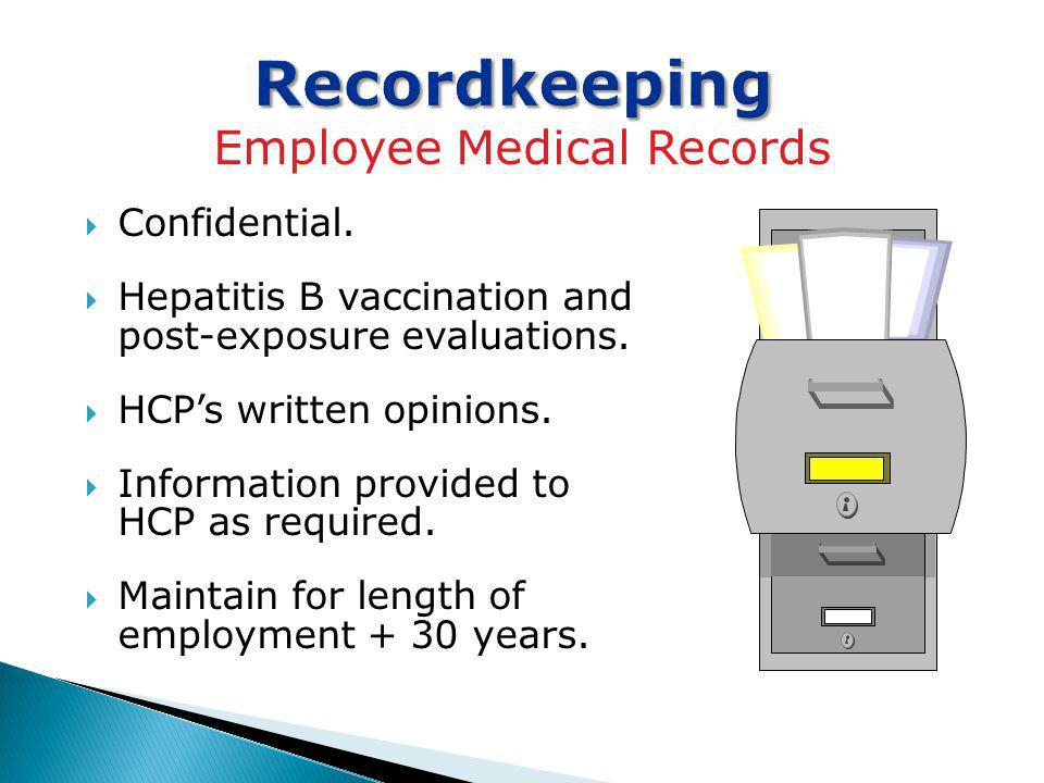 Employee Medical Records