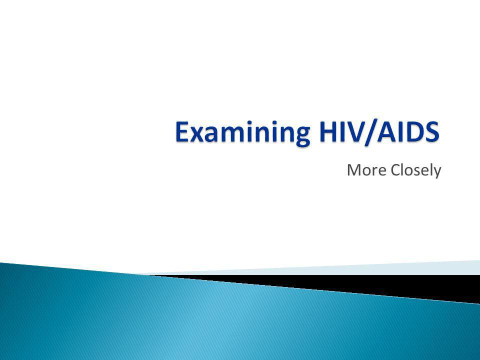 Examining HIV/AIDS More Closely