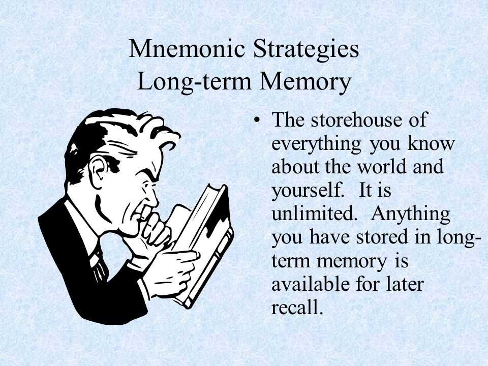 Mnemonic Strategies Long-term Memory