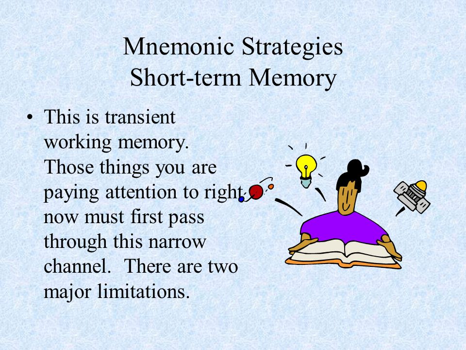 Mnemonic Strategies Short-term Memory