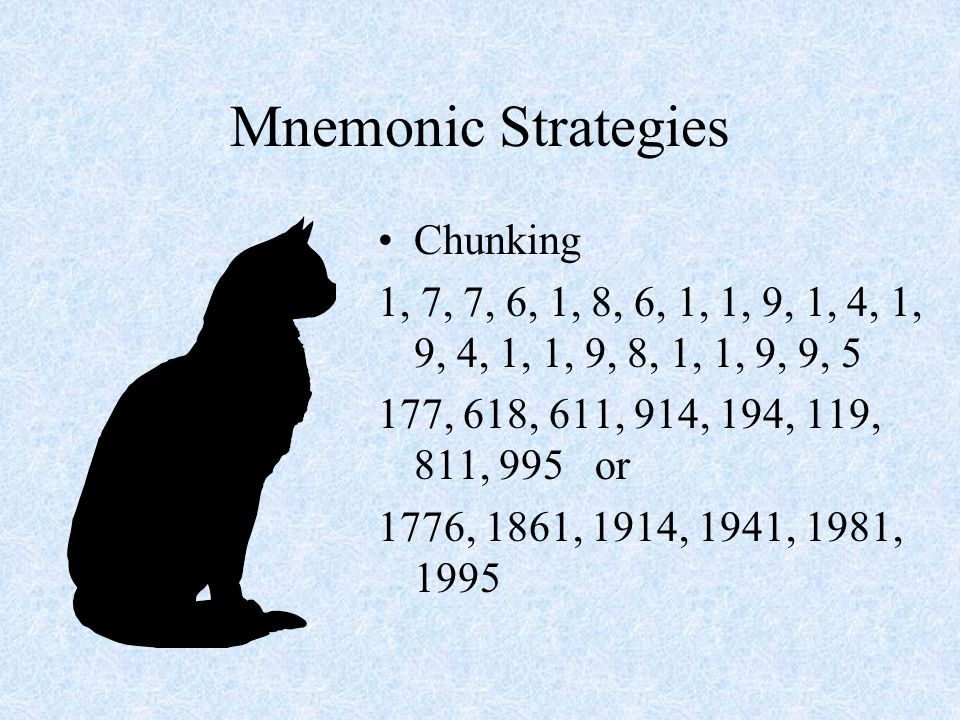 Mnemonic Strategies Chunking