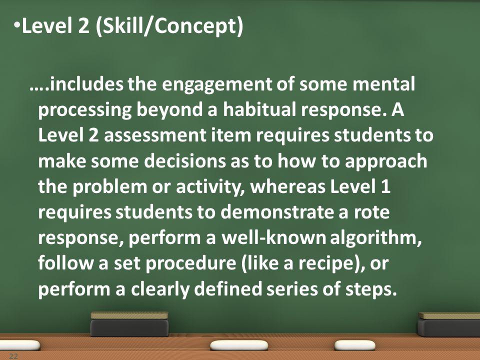 Level 2 (Skill/Concept)