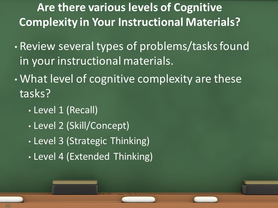 What level of cognitive complexity are these tasks