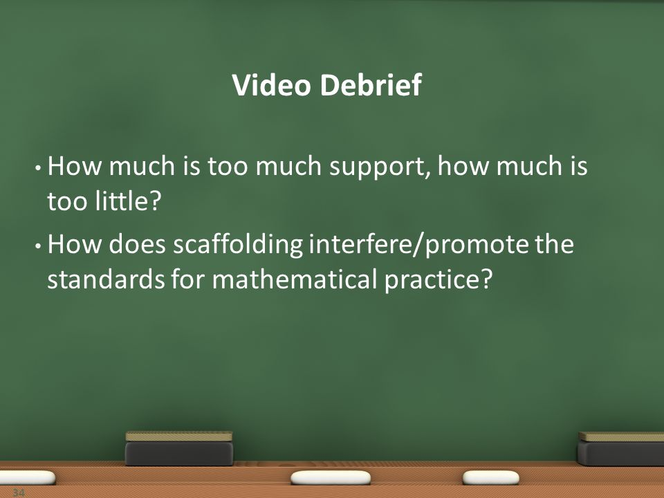 Video Debrief How much is too much support, how much is too little