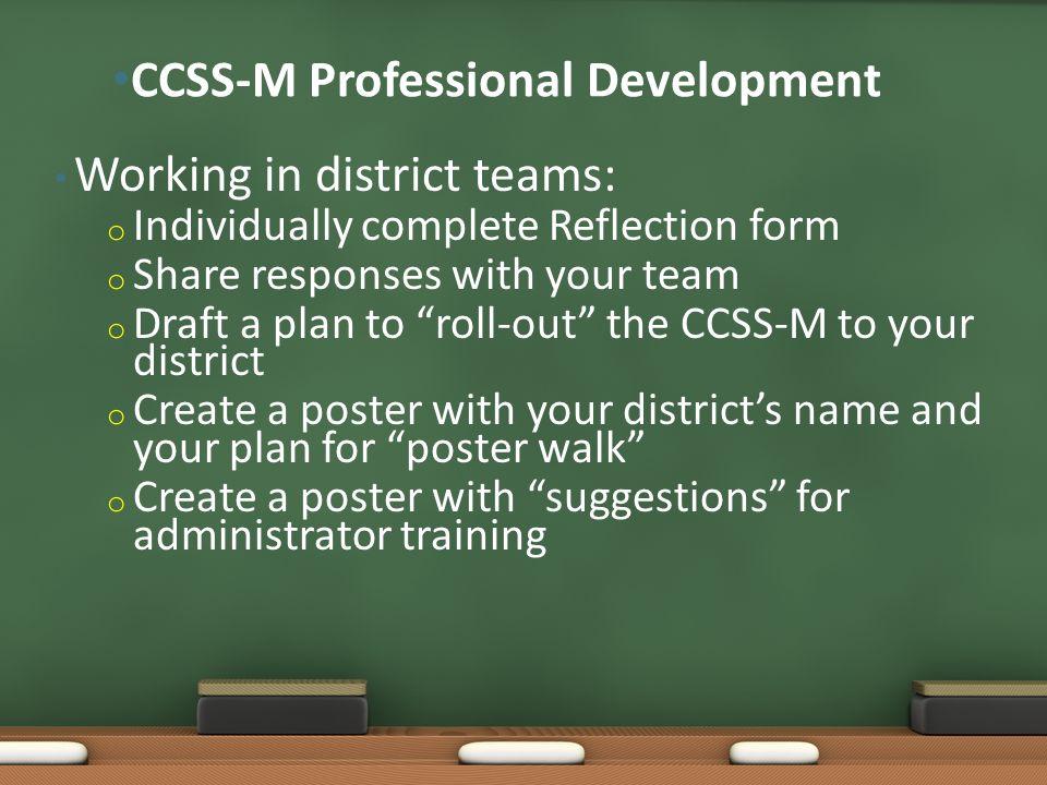 CCSS-M Professional Development