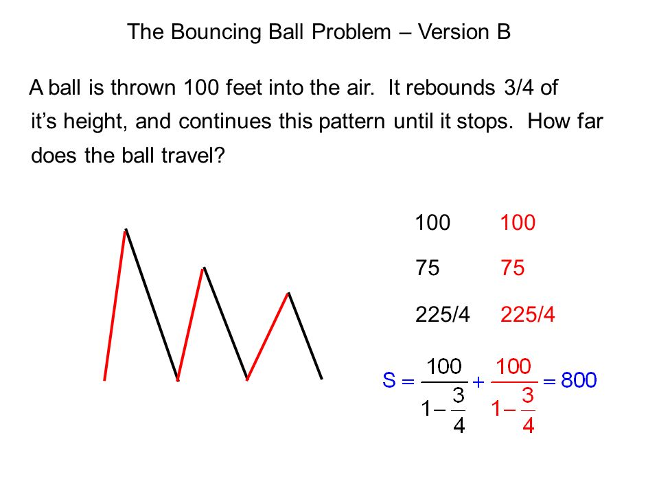 The Bouncing Ball Problem – Version B