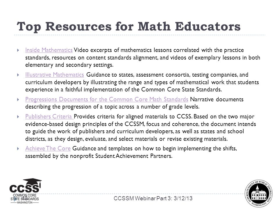 Top Resources for Math Educators