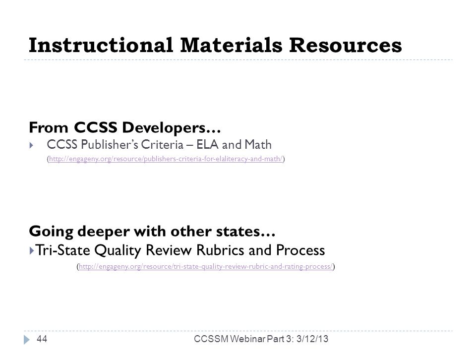 Instructional Materials Resources