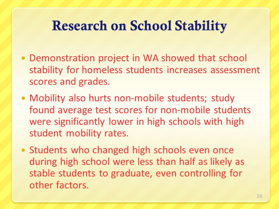 Research on School Stability