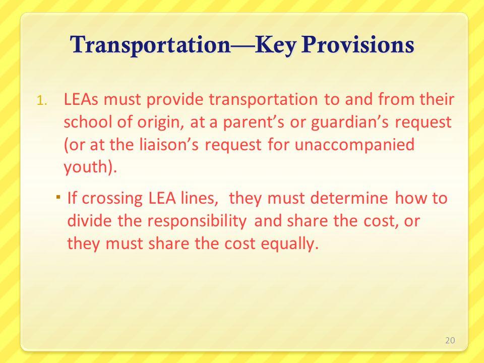 Transportation—Key Provisions