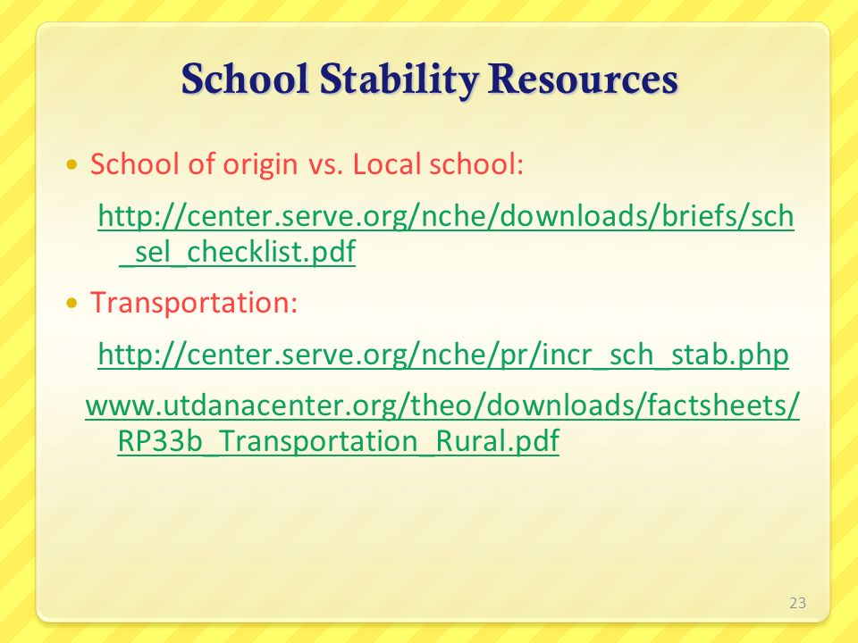 School Stability Resources