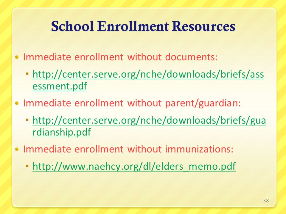 School Enrollment Resources