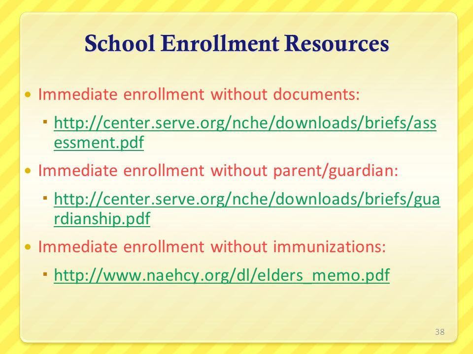 School Enrollment Resources