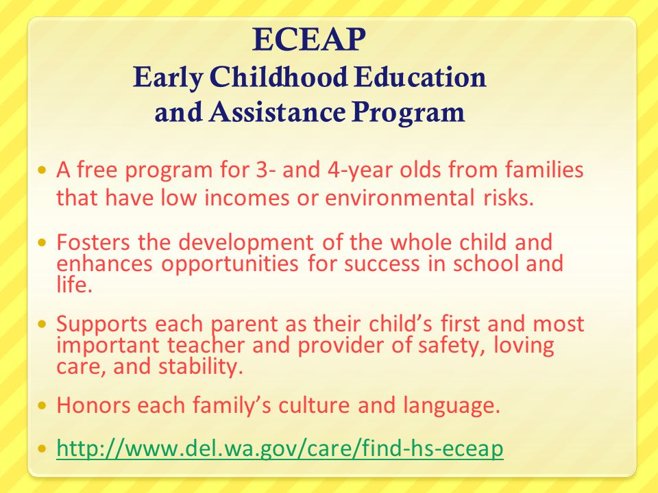ECEAP Early Childhood Education and Assistance Program