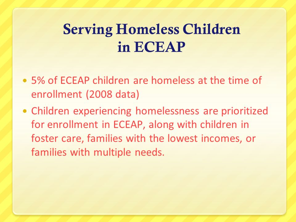 Serving Homeless Children in ECEAP