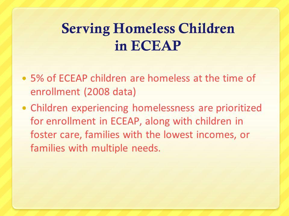 Serving Homeless Children in ECEAP