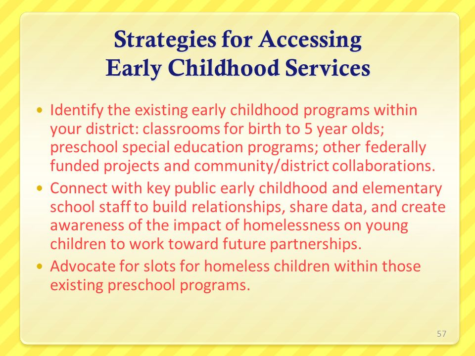 Strategies for Accessing Early Childhood Services