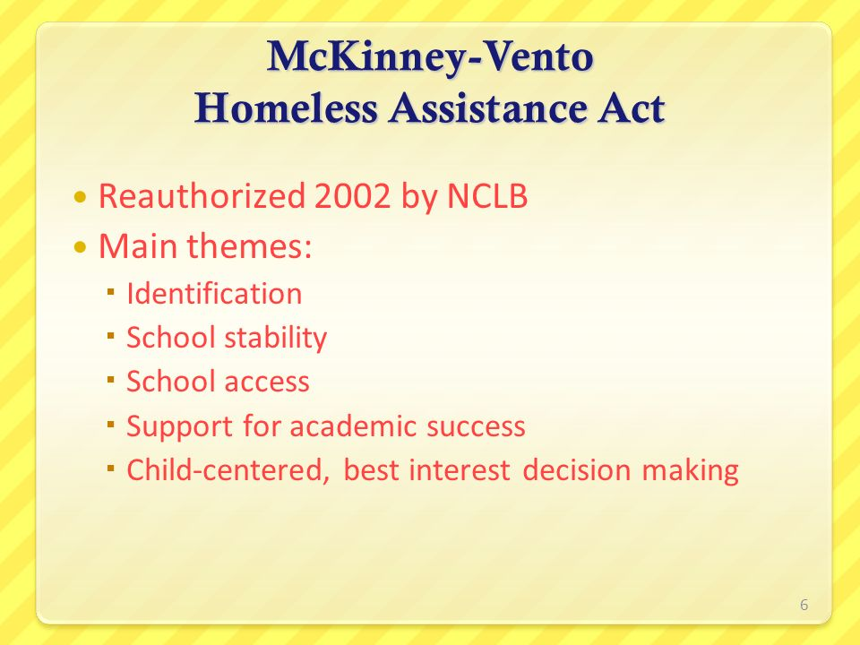 McKinney-Vento Homeless Assistance Act