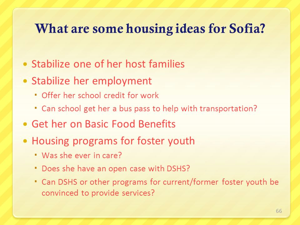 What are some housing ideas for Sofia