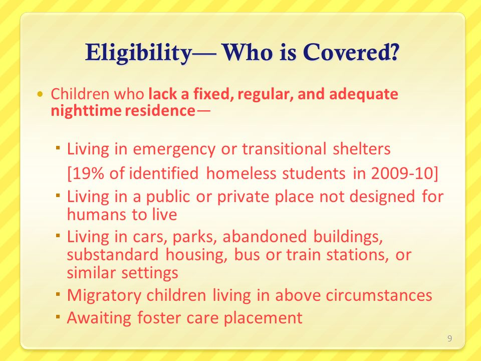 Eligibility— Who is Covered