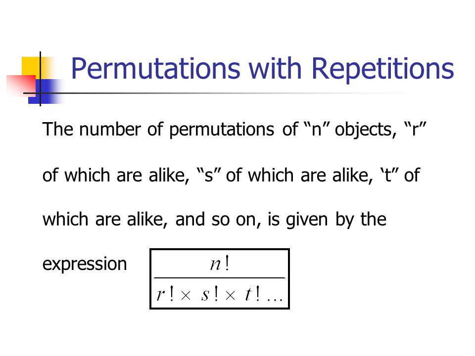Permutations with Repetitions