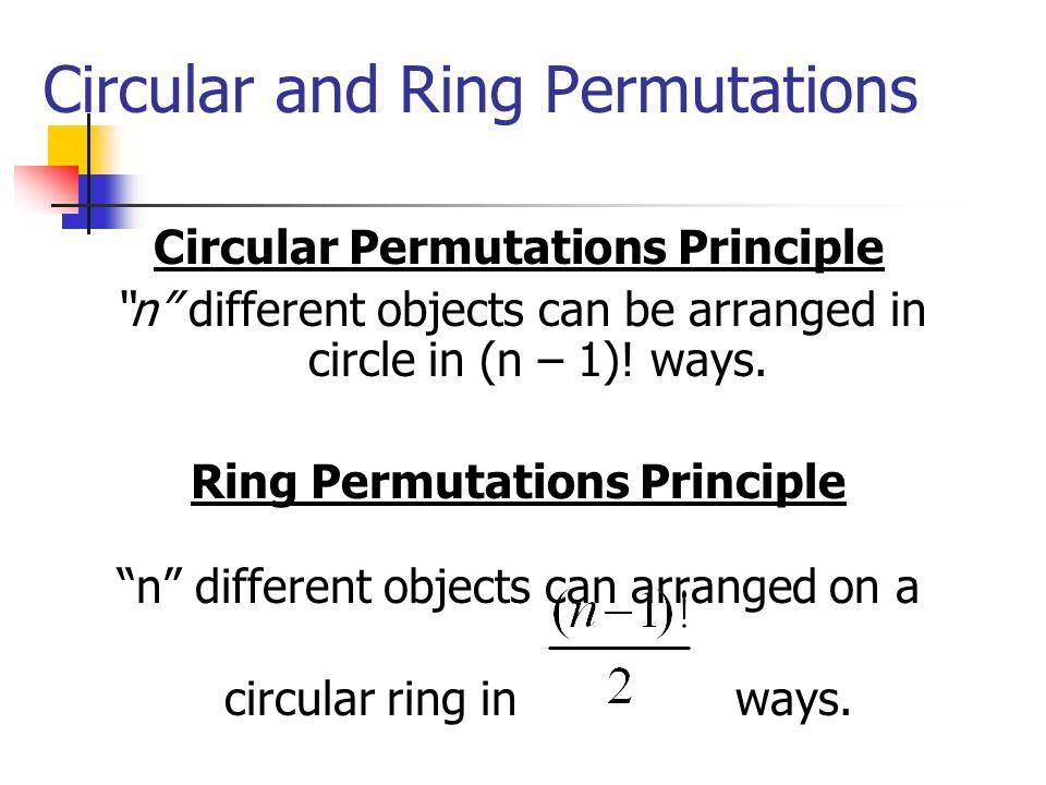 Circular and Ring Permutations