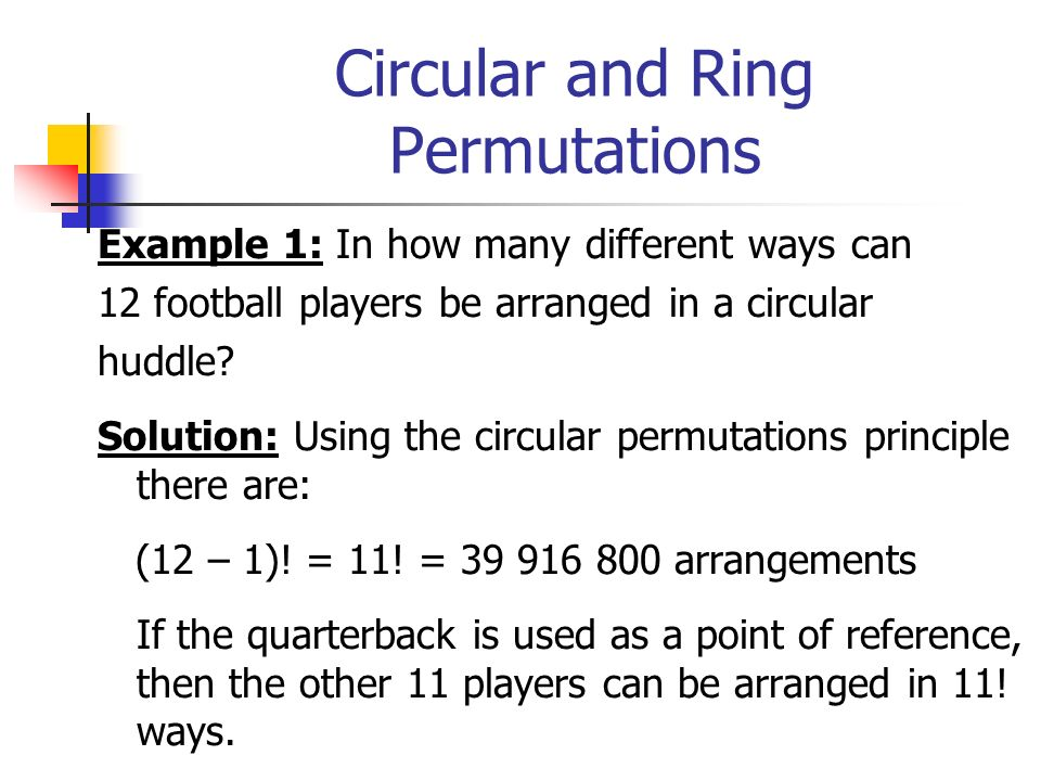 Circular and Ring Permutations