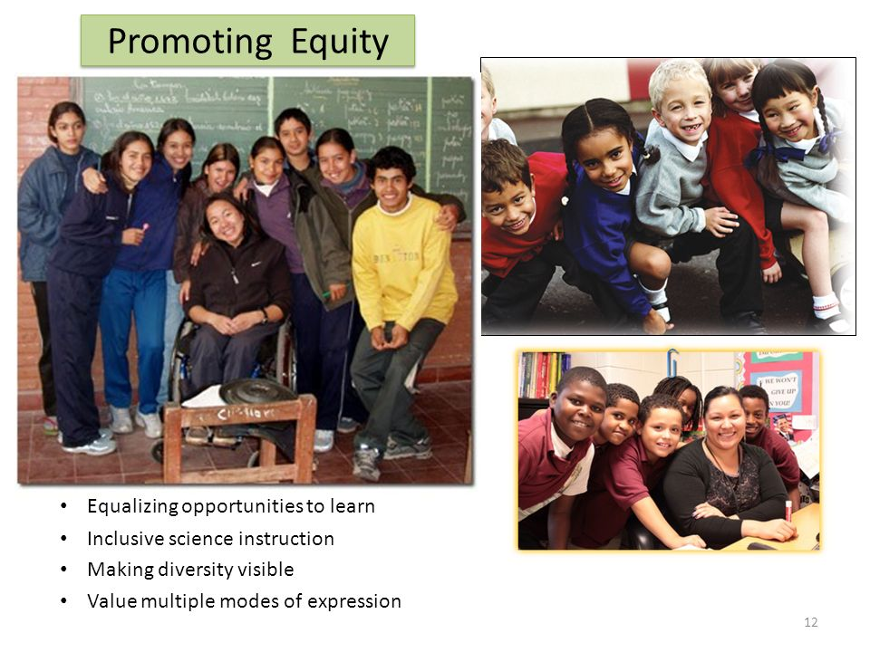 Promoting Equity Equalizing opportunities to learn