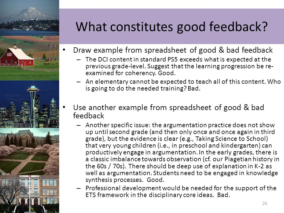 What constitutes good feedback
