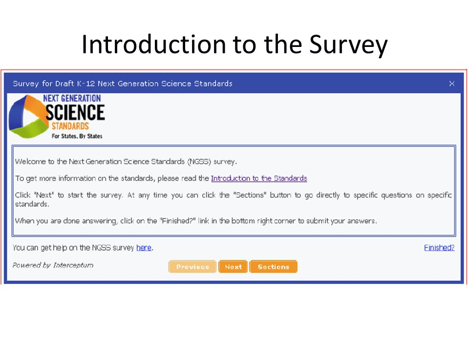 Introduction to the Survey
