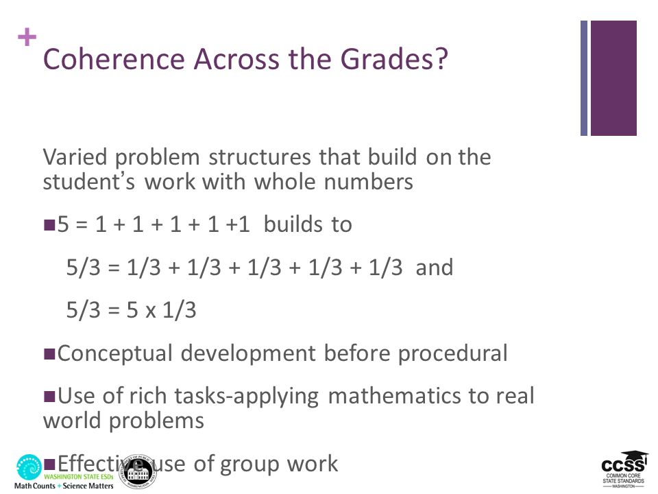 Coherence Across the Grades
