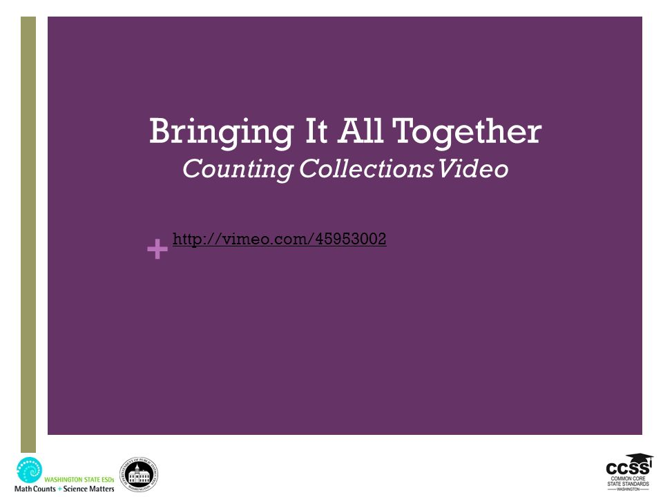 Bringing It All Together Counting Collections Video