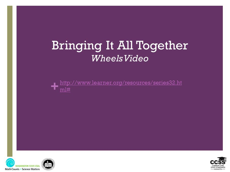 Bringing It All Together Wheels Video