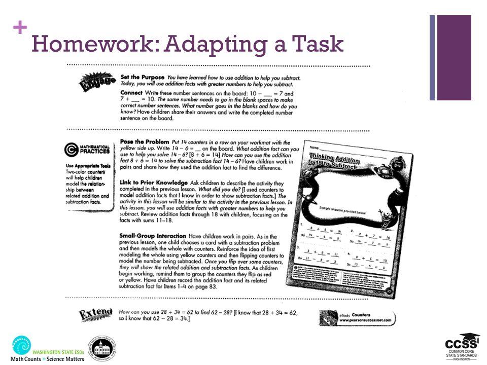 Homework: Adapting a Task