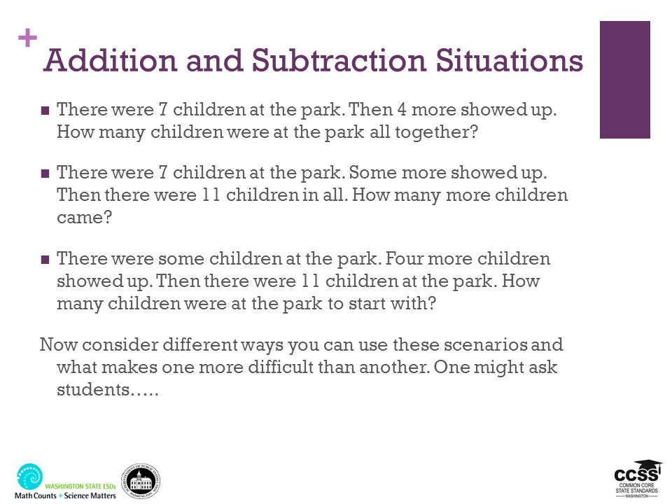 Addition and Subtraction Situations
